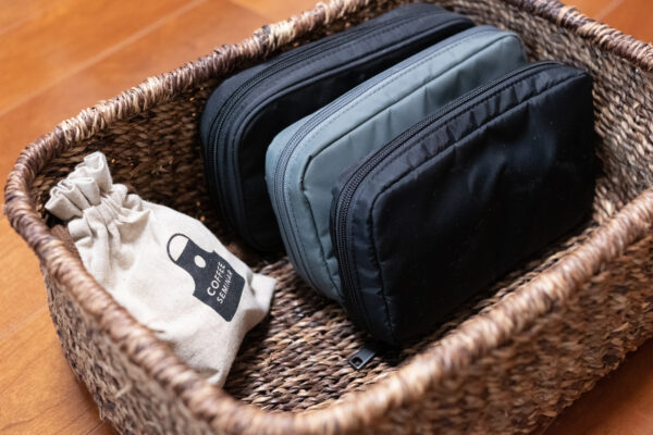 pouch in the buscket